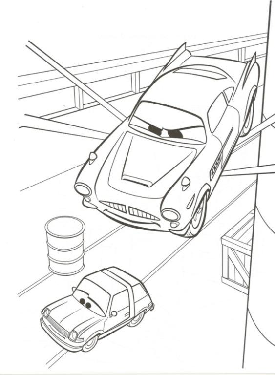 Kids N Fun De 38 Ausmalbilder Von Cars 2