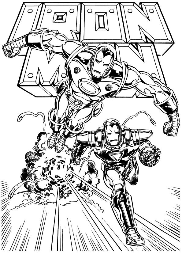 Kids-n-fun.de | Malvorlage Iron man Iron man