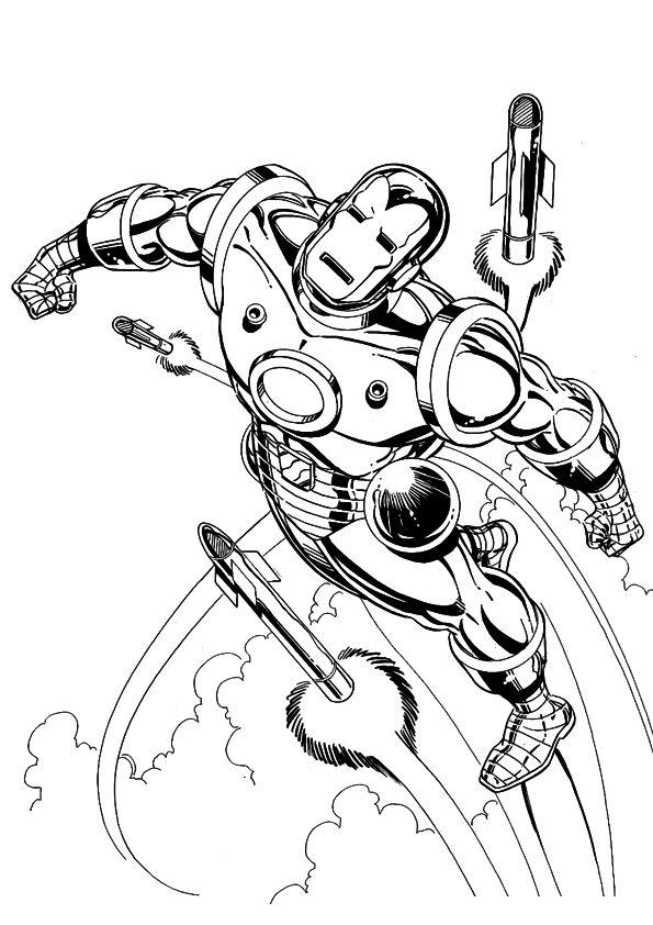 Kids-n-fun.de | 60 Ausmalbilder von Iron man