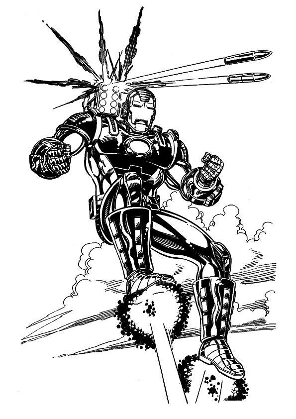 Ausmalbilder Marvel Helden Angel: 60 Ausmalbilder Von Iron Man