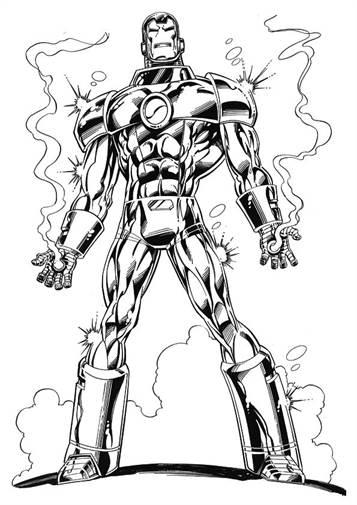 Kids N Funde 60 Ausmalbilder Von Iron Man