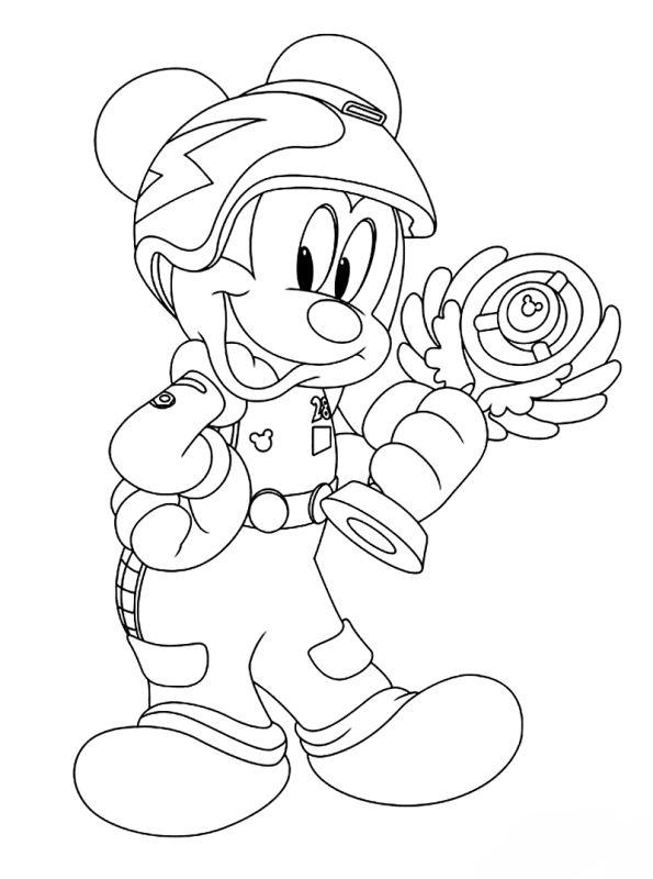Kids N Fun De Malvorlage Mickey Mouse Und Roadster Racers Mickey Mouse