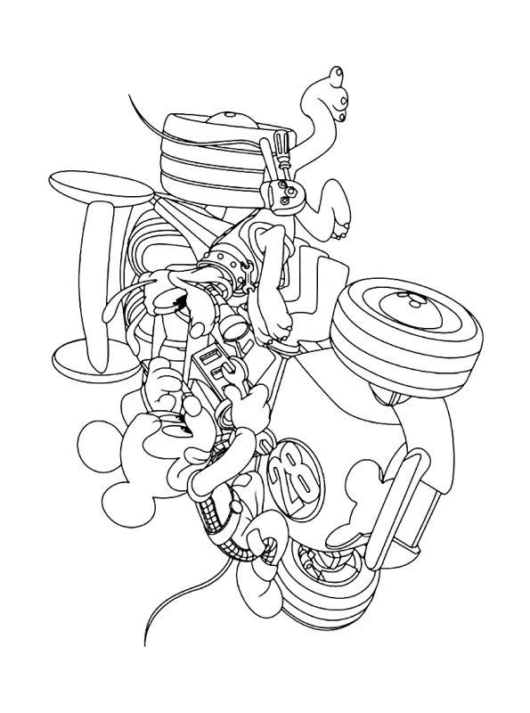 kidsnfunde  malvorlage mickey mouse und roadster