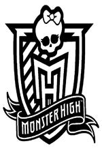 Ausmalbild Monster High Logo