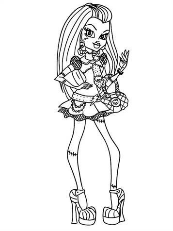 Kids N Fun De 32 Ausmalbilder Von Monster High