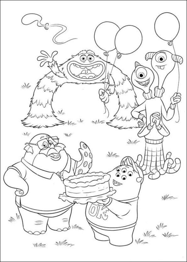 Kids-n-fun.de | 45 Ausmalbilder von Monsters University