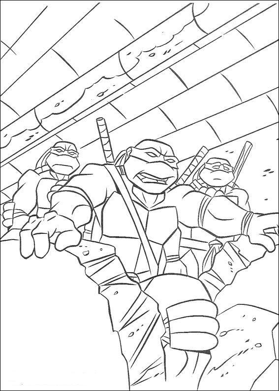 Kids-n-fun.de | 80 Ausmalbilder von Ninja Turtles