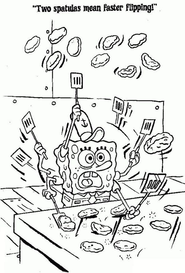 Kids N Fun De 39 Ausmalbilder Von Spongebob Schwammkopf