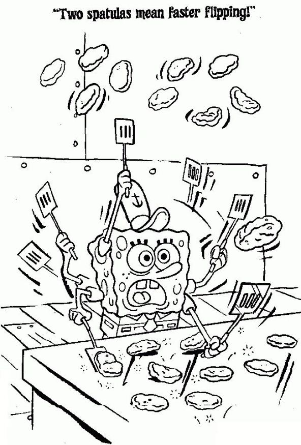 kidsnfunde  malvorlage spongebob schwammkopf spongebob