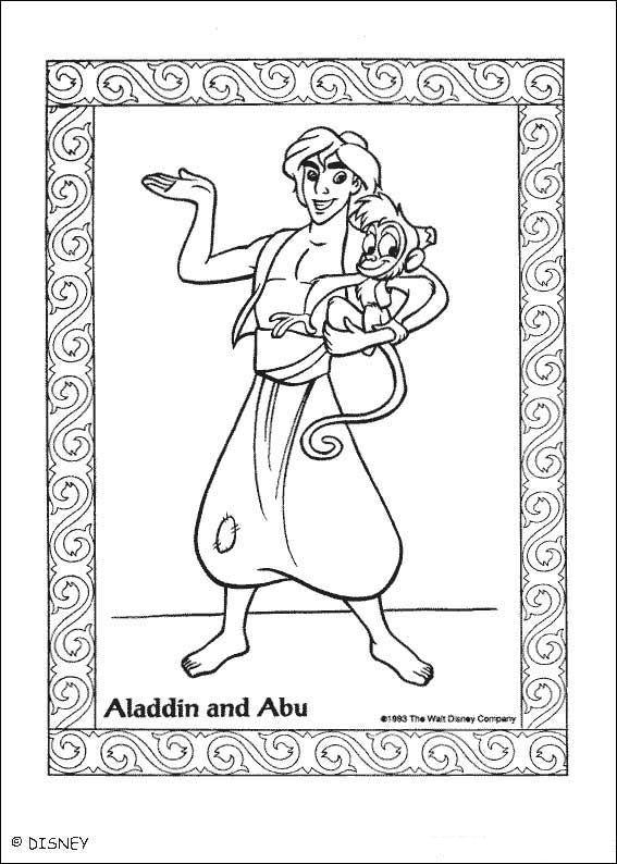 kids-n-fun.de   malvorlage aladdin aladdin