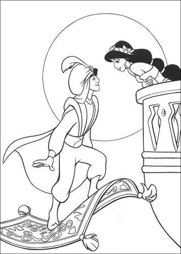 Kids N Funde 60 Ausmalbilder Von Aladdin