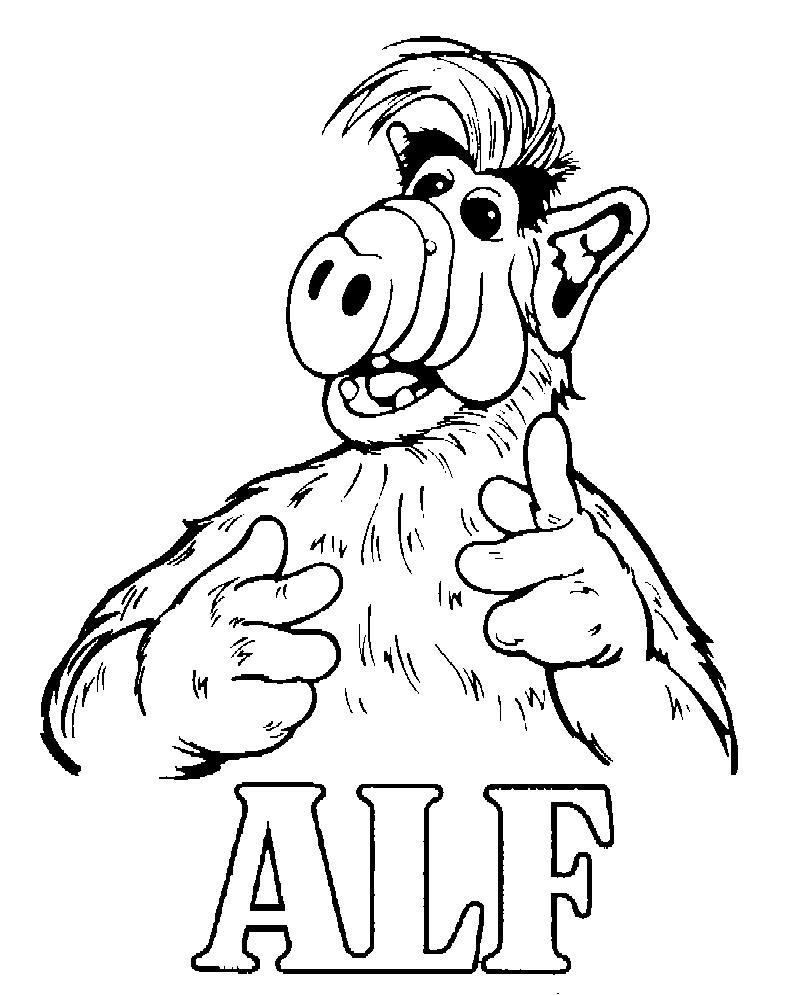 Kids-n-fun.de | 11 Ausmalbilder von Alf
