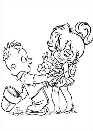 Kids N Fun De 26 Ausmalbilder Von Alvin Und Die Chipmunks