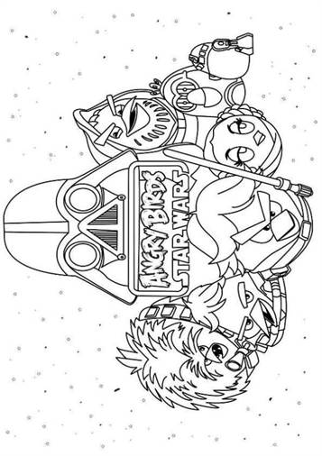 Angry Birds Star Wars 2 Coloring Pages - Get Coloring Pages | 506x357