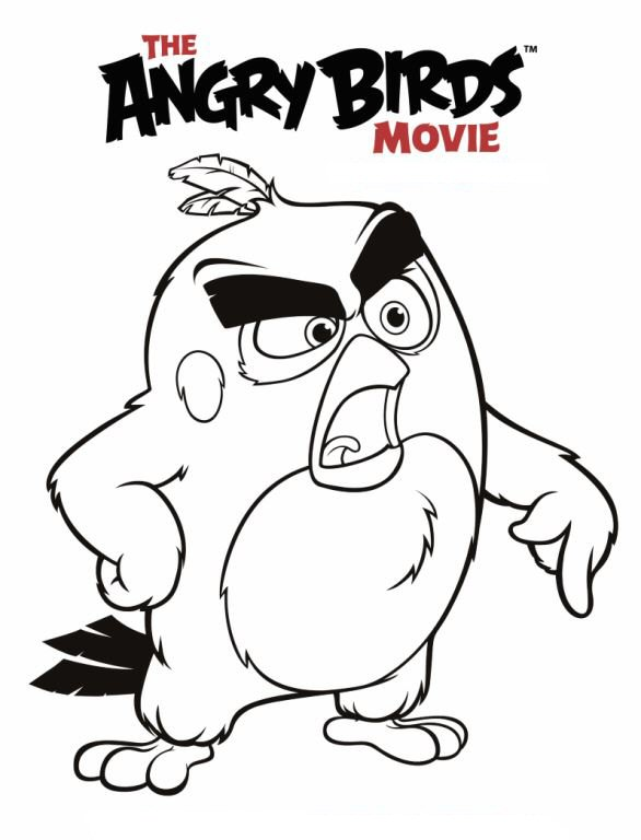 Kids-n-fun.de | 6 Ausmalbilder von Angry Birds Film