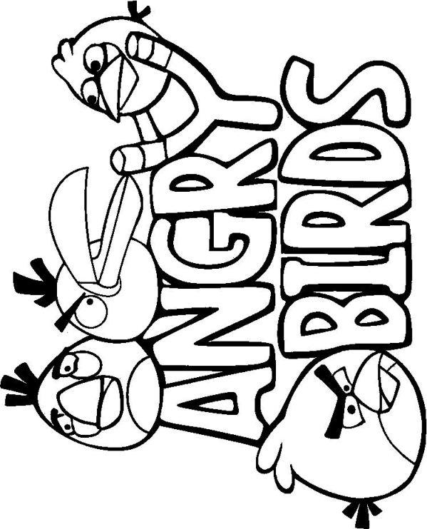 Kids N Fun De Ausmalbild Angry Birds Angry Birds 7