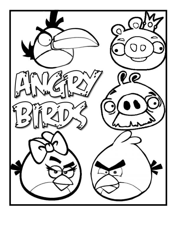 Kids N Fun De 42 Ausmalbilder Von Angry Birds