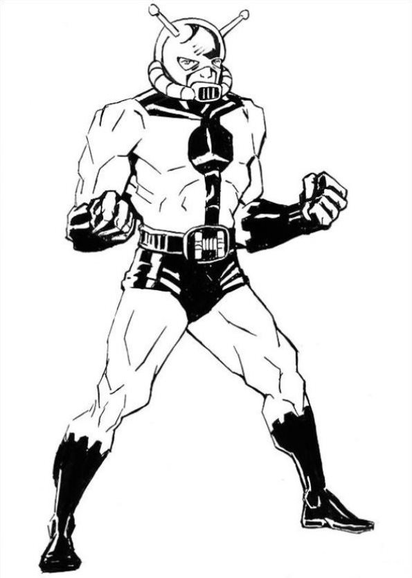 Marvel Yellow Jacket Coloring Pages