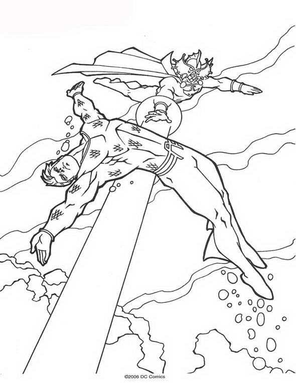 kidsnfunde  persönliche malvorlage erstellen aquaman