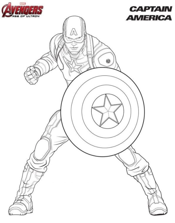 baby captain america coloring pages - photo#18