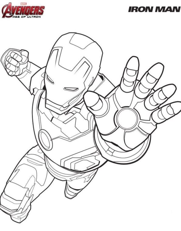 Captain America Shiled Coloring Pages