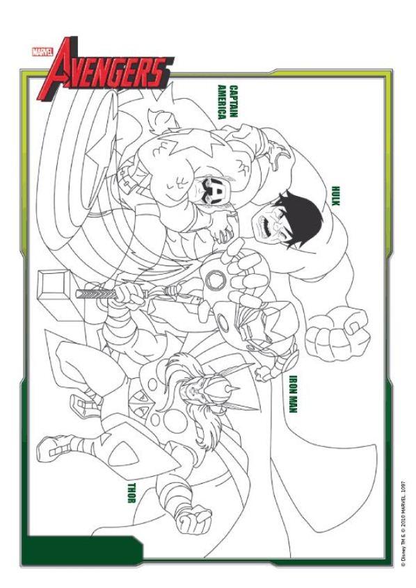 kids-n-fun.de | 18 ausmalbilder von die rächer (avengers)
