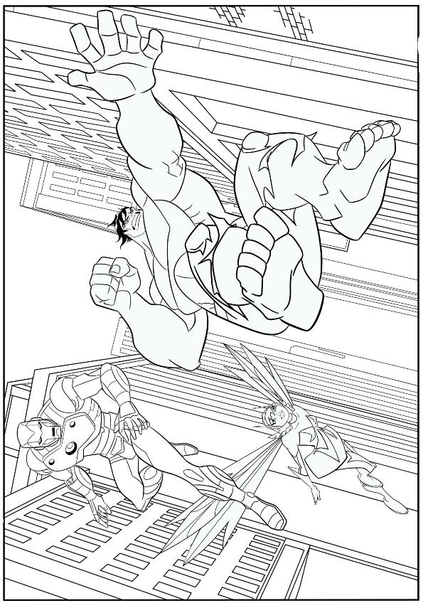 Captain America Spiderman Hulk Coloring Pages