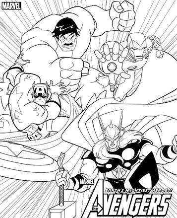 Kids N Fun De 18 Ausmalbilder Von Die Racher Avengers