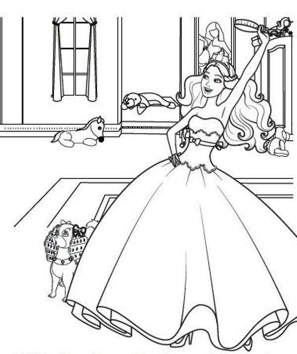 Kids-n-fun.de | 3 Ausmalbilder von Barbie Die Prinzessin und der Popstar