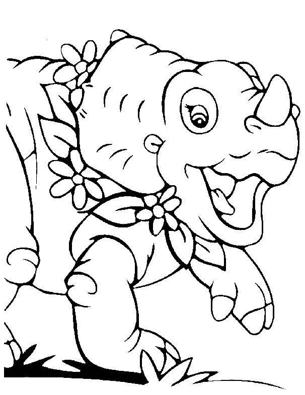 Kids N Fun De 16 Ausmalbilder Von Baby Dinosaurier