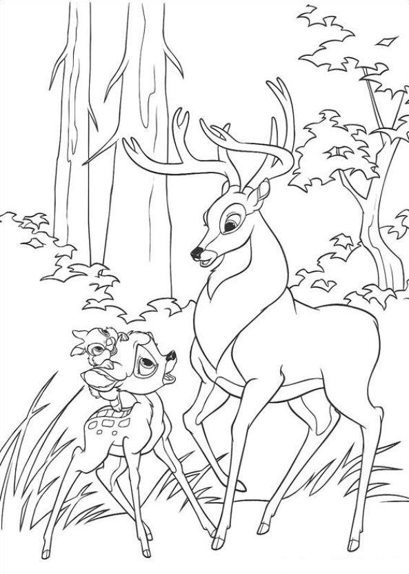 Kids-n-fun.de | 29 Ausmalbilder von Bambi 2
