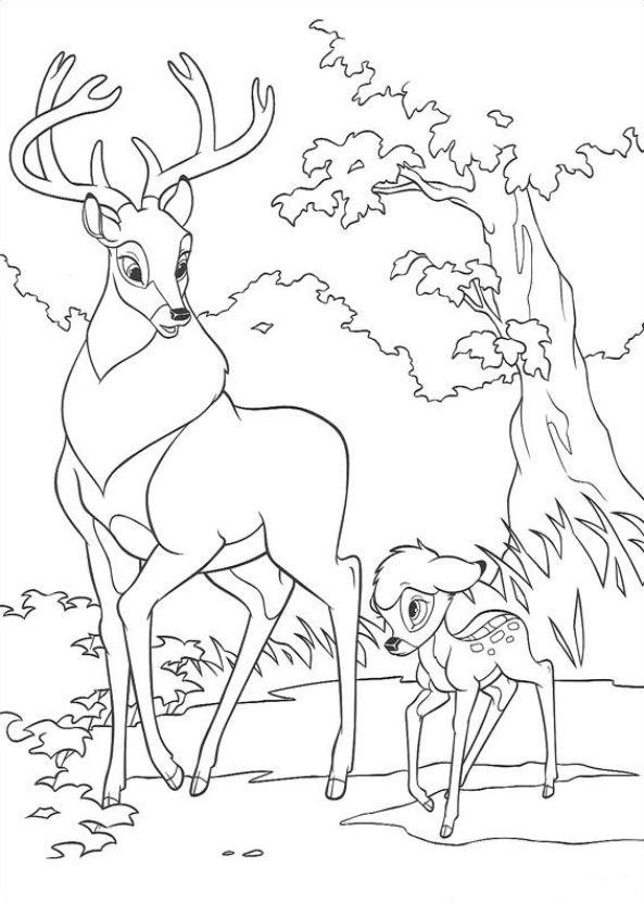 kidsnfunde  29 ausmalbilder von bambi 2