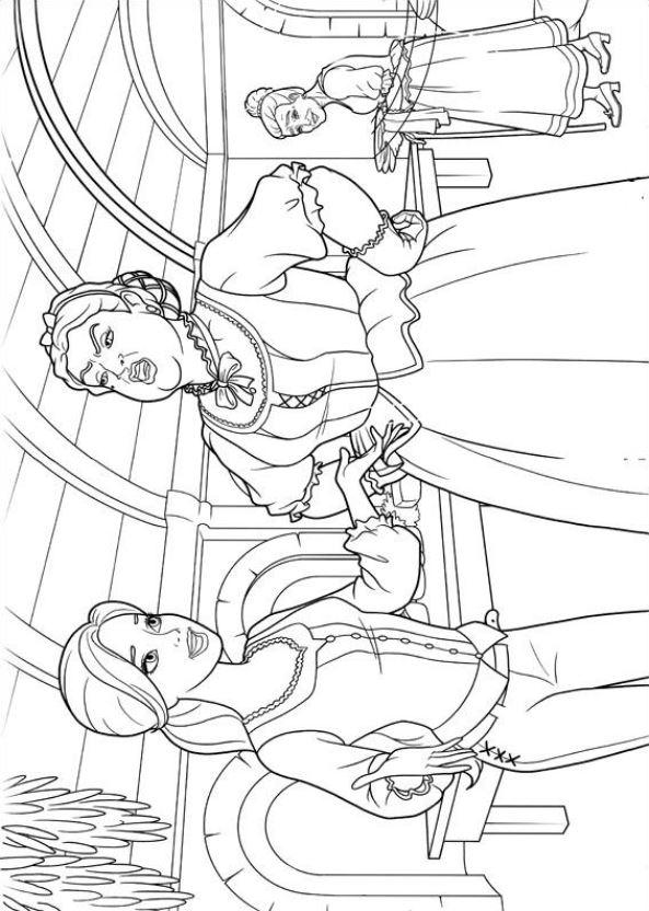 Kids-n-fun.de   17 Ausmalbilder von Barbie und die drei Musketiere
