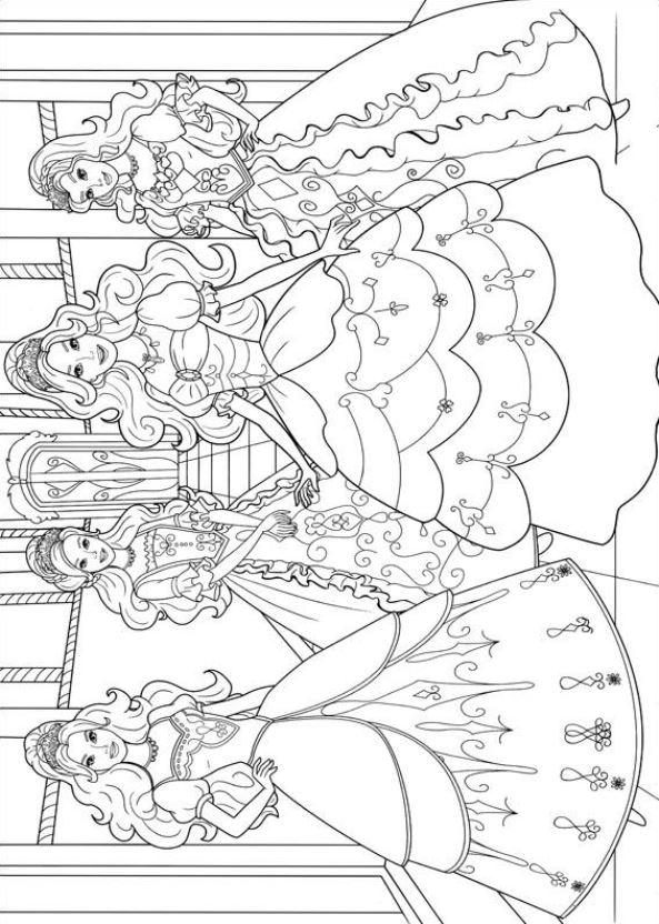 Kids N Fun De 17 Ausmalbilder Von Barbie Und Die Drei Musketiere
