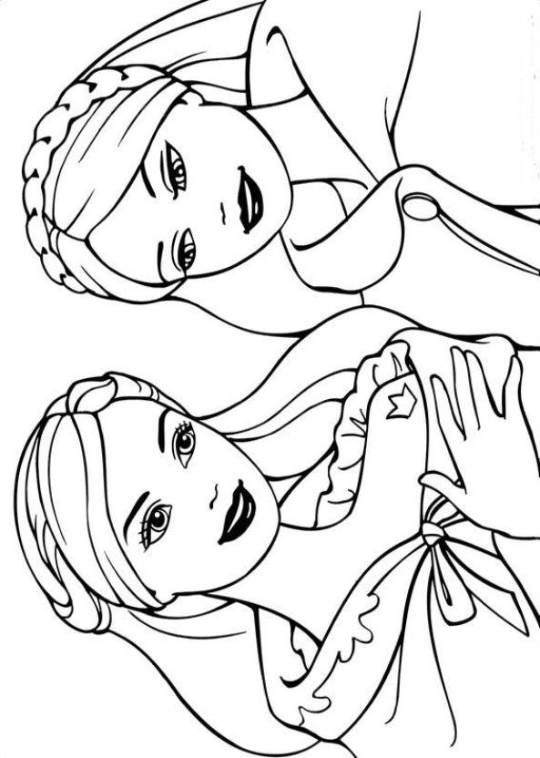 Kids N Fun De 26 Ausmalbilder Von Barbie Und Der Bettler