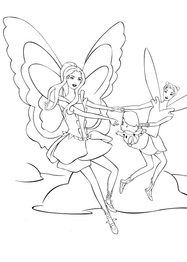 Kids N Fun De 21 Ausmalbilder Von Barbie Fairytopia