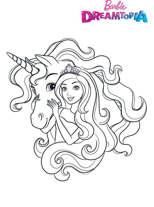 kidsnfunde  malvorlage barbie dreamtopia barbie unicorn