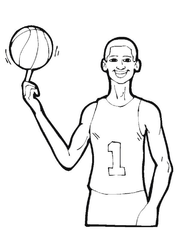 Kids-n-fun.de   17 Ausmalbilder von Basketball