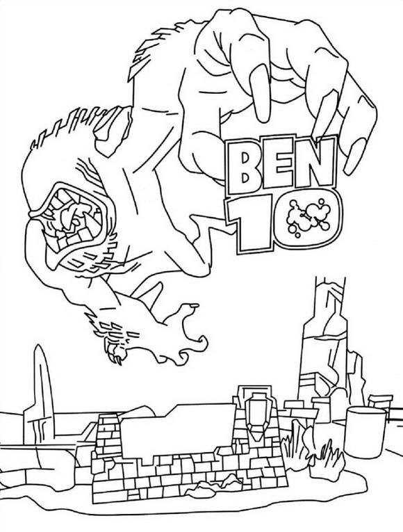 Kids N Fun De 27 Ausmalbilder Von Ben 10