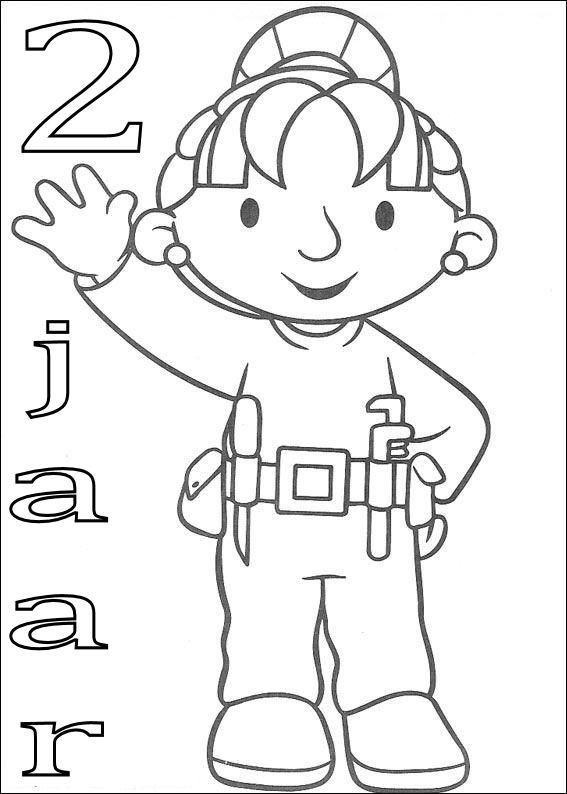 Kids N Fun De Ausmalbild Bob Der Baumeister Geburtstagskarte Bob
