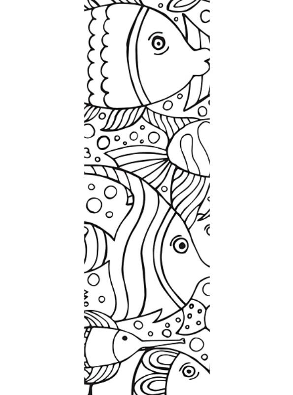 kidsnfunde  malvorlage lesezeichen fisch