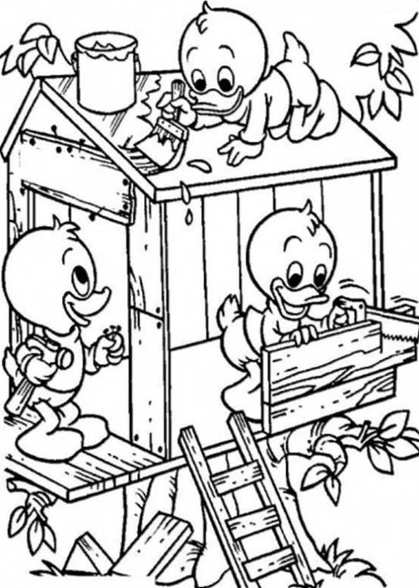 Kids-n-fun.de   11 Ausmalbilder von Baumhaus