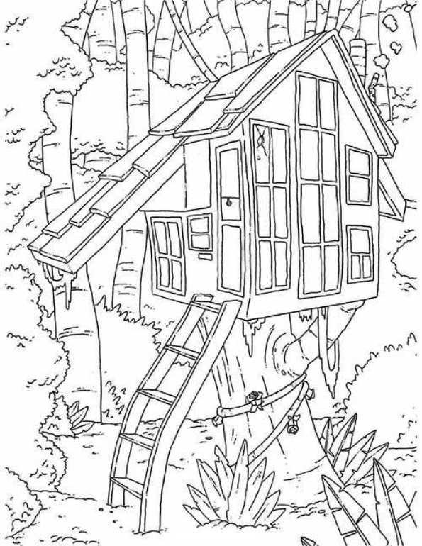 Atemberaubend Baumhaus Malvorlagen Ideen - Beispiel Anschreiben für ...