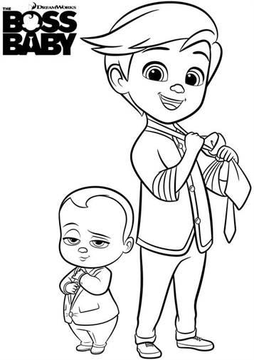 Kids N Fun De 27 Ausmalbilder Von Boss Baby