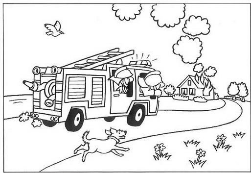 Kids N Fun De 28 Ausmalbilder Von Feuerwehr