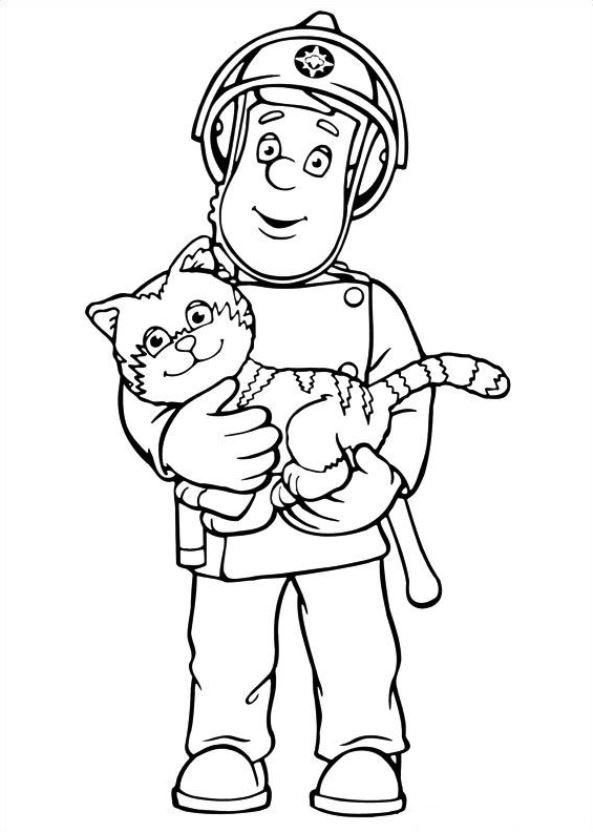 Kids-n-fun.de | 38 Ausmalbilder von Feuerwehrmann Sam
