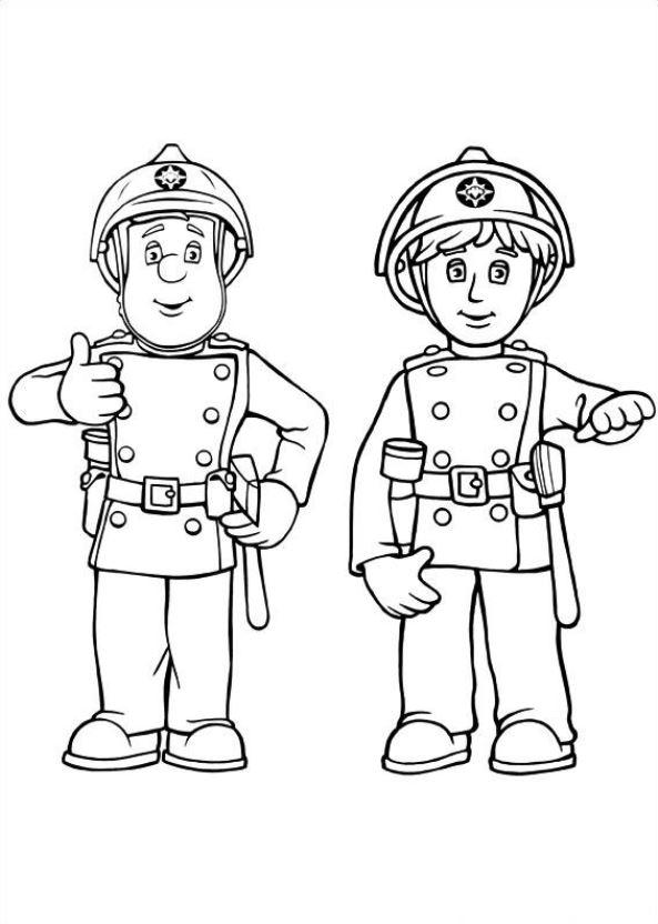 38 Feuerwehrmann Sam Ausmalbilder