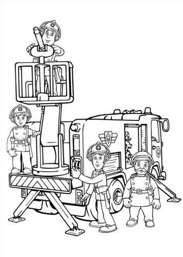 Kids N Fun De 38 Ausmalbilder Von Feuerwehrmann Sam