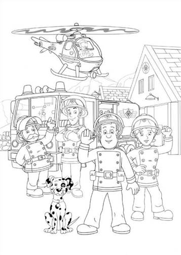 Kids N Funde 38 Ausmalbilder Von Feuerwehrmann Sam