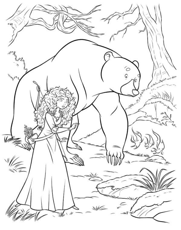 Kids N Fun De Ausmalbild Merida Merida Bear 2